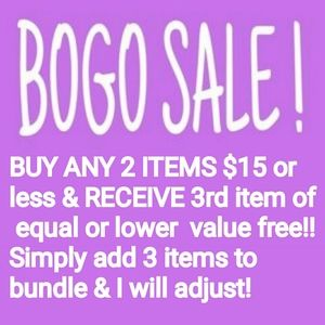 Other - Buy any 2 item $15 or less & you will get 3rd FREE